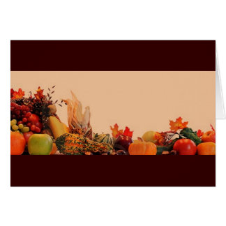 Thanksgiving/Cornucopia Greeting Card
