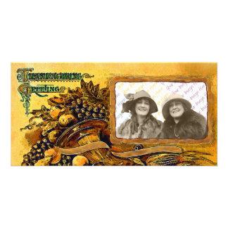 Thanksgiving Cornucopia photo card