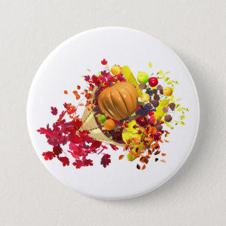 Thanksgiving Cornucopia Pinback Button