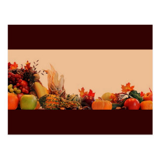 Thanksgiving/Cornucopia Postcard