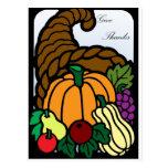 Thanksgiving Cornucopia Postcards