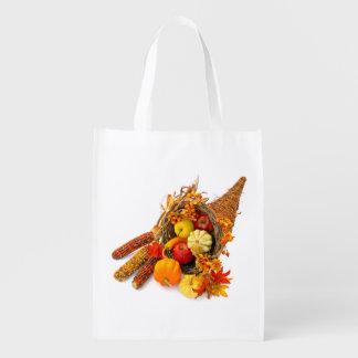 Thanksgiving Cornucopia Reusable Grocery Bag