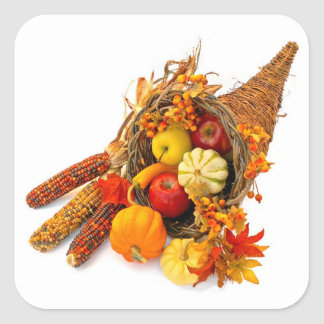 Thanksgiving Cornucopia Stickers