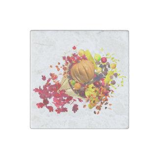 Thanksgiving Cornucopia Stone Magnet