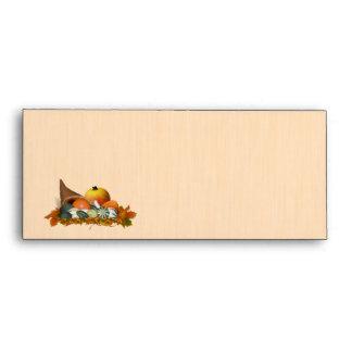 Thanksgiving Cornucopia with Fall Gourds Envelope