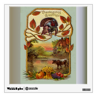 Thanksgiving Country Greeting Wall Sticker