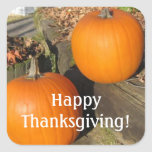 Thanksgiving Country Pumpkins Sticker