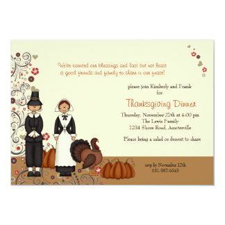 Thanksgiving Couple - Holiday  Invitation