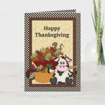 Thanksgiving Cow greeting card