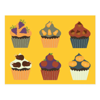 Thanksgiving Cupcakes Post Cards