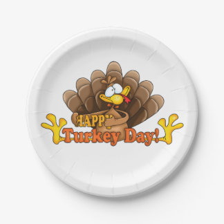 Thanksgiving Custom Paper Plates/Turkey Day Paper Plate