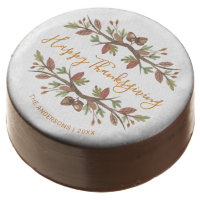 THANKSGIVING CUTE WATERCOLOR FOLIAGE DESSERT CHOCOLATE COVERED OREO