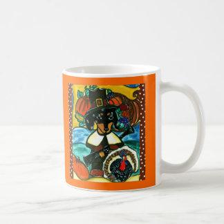 Thanksgiving Dachshund Coffee Mugs