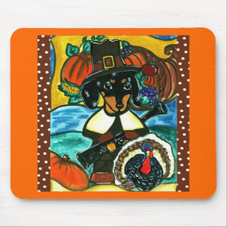 Thanksgiving Dachshund Mouse Mats