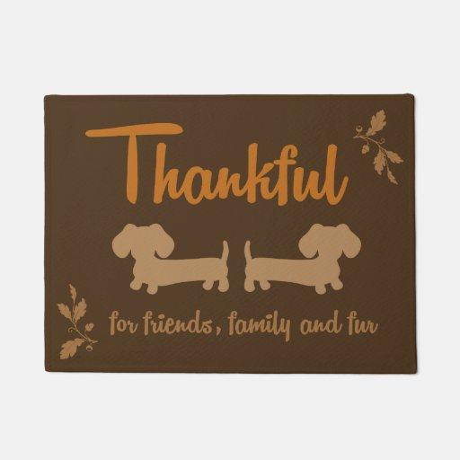 Thanksgiving Dachshund Wiener Dog Autumn Doormat Zazzle