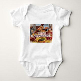 Thanksgiving Dachshunds Baby Bodysuit