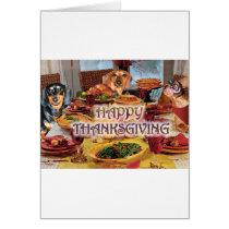 Thanksgiving Dachshunds Card