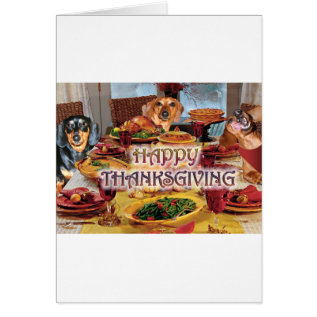 Thanksgiving Dachshunds Card at Zazzle
