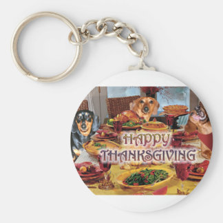 Thanksgiving Dachshunds Keychain
