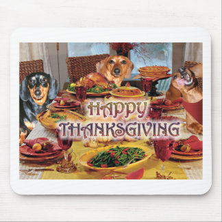 Thanksgiving Dachshunds Mouse Pad