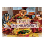 Thanksgiving Dachshunds Postcard