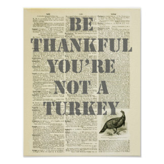 Thanksgiving Day Be Thankful Wall Decor print #3