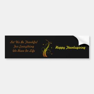 Thanksgiving day car bumper sticker
