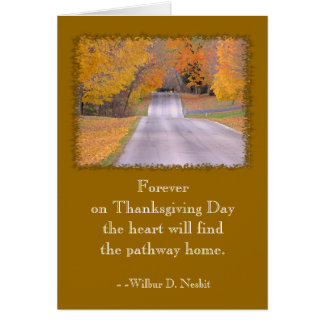 THANKSGIVING DAY CARD, SENTIMENTAL QUOTE.