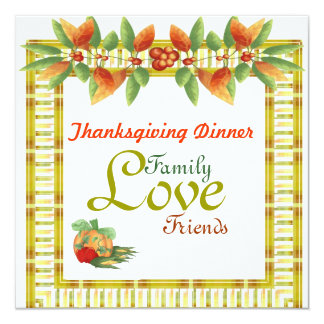 Thanksgiving Day Dinner Invitation