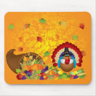 Thanksgiving Day Fall Bountiful Harvest Cornucopia Mouse Pad