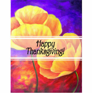 Thanksgiving Day Flowers & Poppy Painting - Multi Acrylic Cut Outs