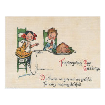 Thanksgiving Day Greetings Post Cards