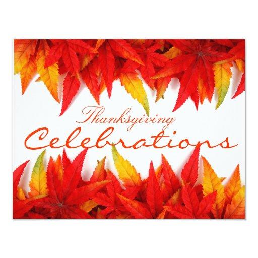 "Thanksgiving Day Invitation Card 4.25"" X 5.5"" Invitation Card"