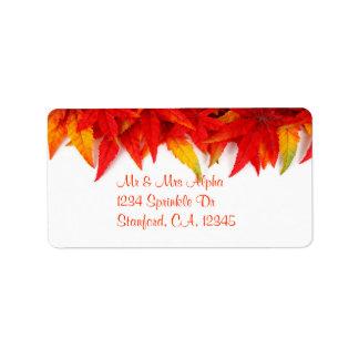 Thanksgiving Day Label Address Label