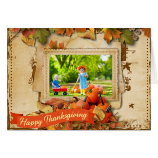 Thanksgiving Day Photo Greeting Card