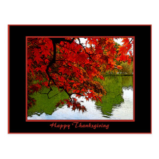 Thanksgiving Day Post Cards Fall Scene