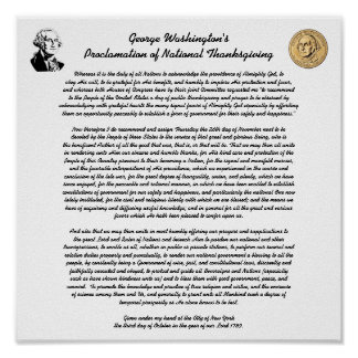 Thanksgiving Day Proclamation Poster