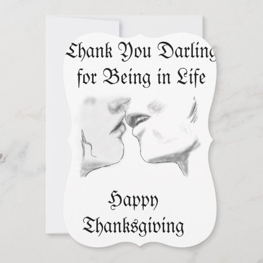 Thanksgiving Day Thank You Card