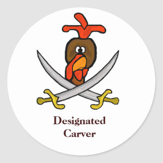 Thanksgiving Day Turkey Stickers - Carver or Eater
