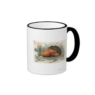 Thanksgiving DayA Dressed Turkey for Dinner Coffee Mugs