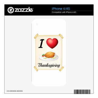 thanksgiving decal for iPhone 4
