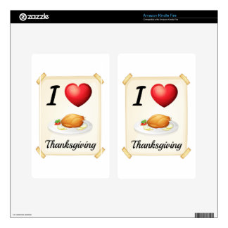 thanksgiving decal for kindle fire