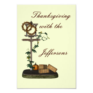 """Thanksgiving__"" Decorative Street Sign 3.5x5 Paper Invitation Card"