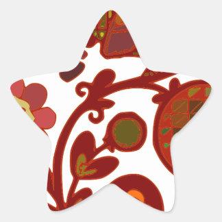 Thanksgiving Design Star Sticker