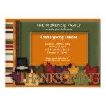 """Thanksgiving Dinner 5"""" X 7"""" Invitation Card"""