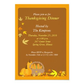 Thanksgiving Dinner 5x7 Harvest invitation