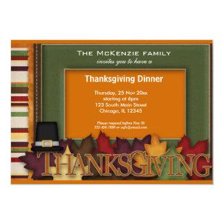 Thanksgiving Dinner 5x7 Paper Invitation Card