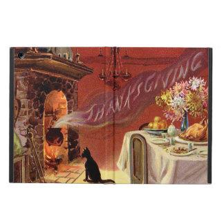 Thanksgiving Dinner Black Cat Fireplace Turkey iPad Air Cover