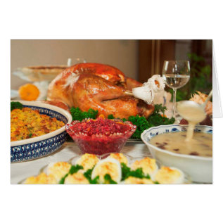 thanksgiving dinner card at Zazzle