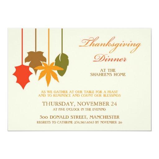Thanksgiving Dinner Flat Invitation